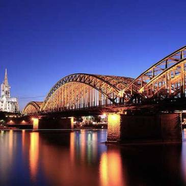 Cologne Cathedral along the Rhine River in Germany