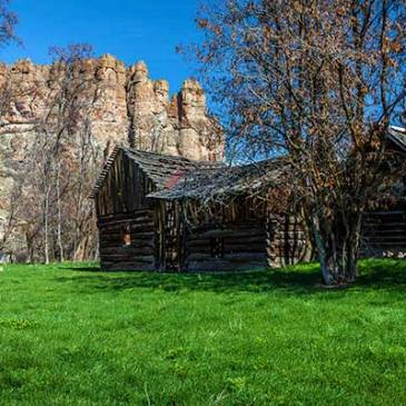 Remnants of an old western homestead in Oregon